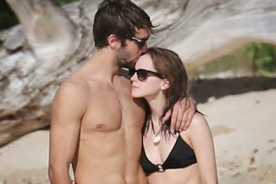 Emma Watson Spotted a Black Bikini on Beach holiday with new boyfriend Matt Janney