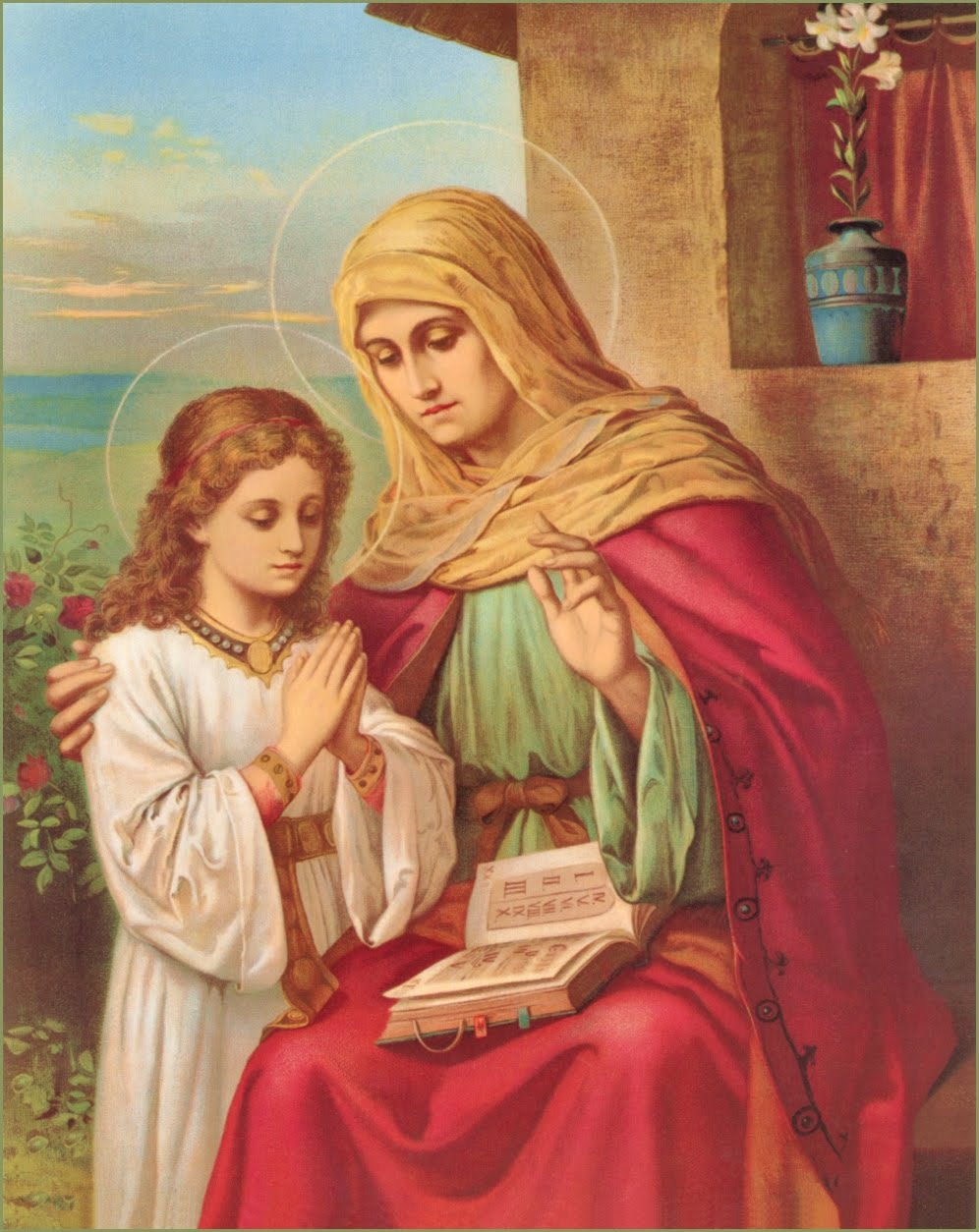 Blessed Virgin Mary and St. Anne, grandmother of Christ, pray for us!