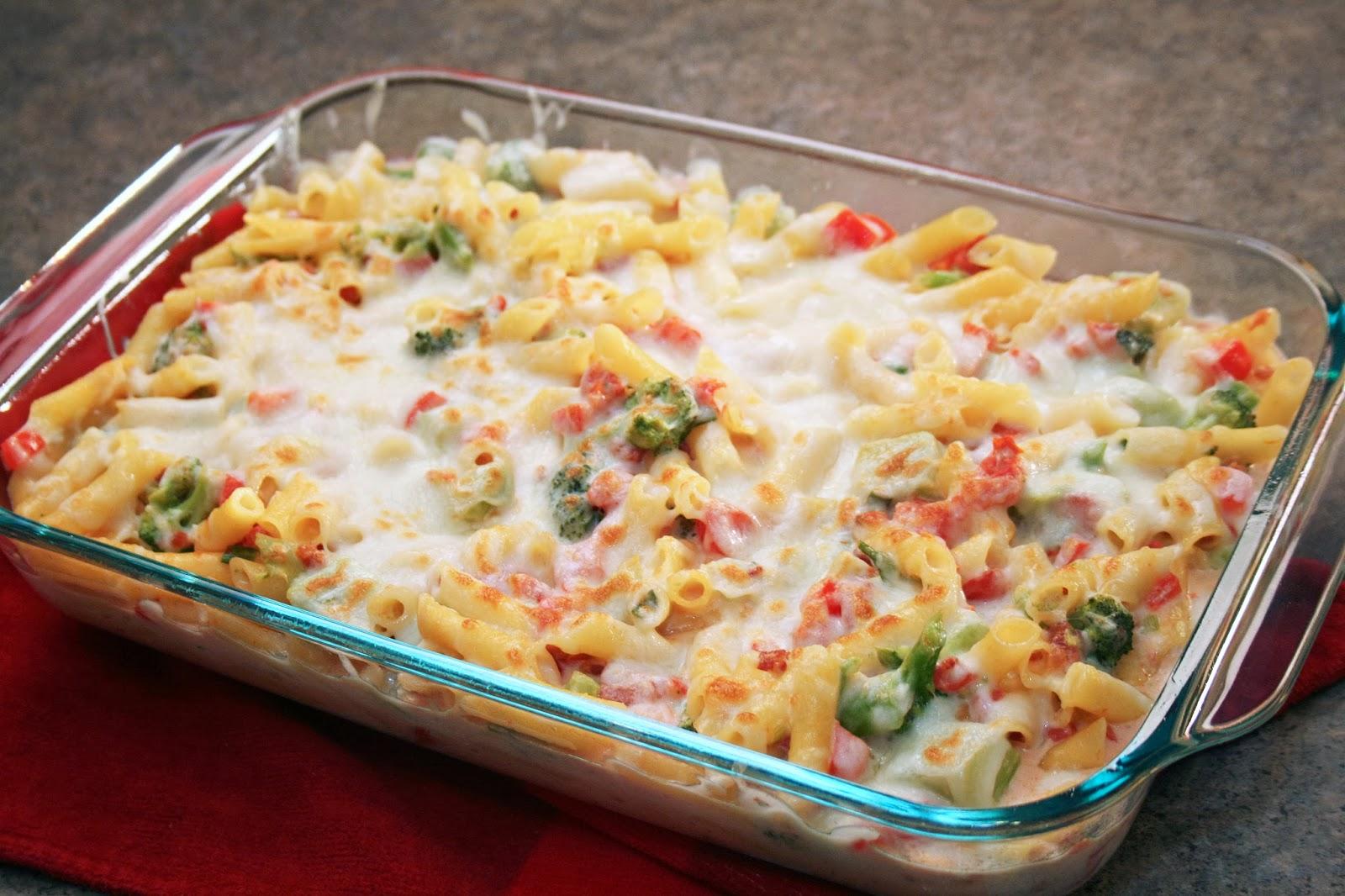 Lazy Gluten Free: Veggie Alfredo Pasta