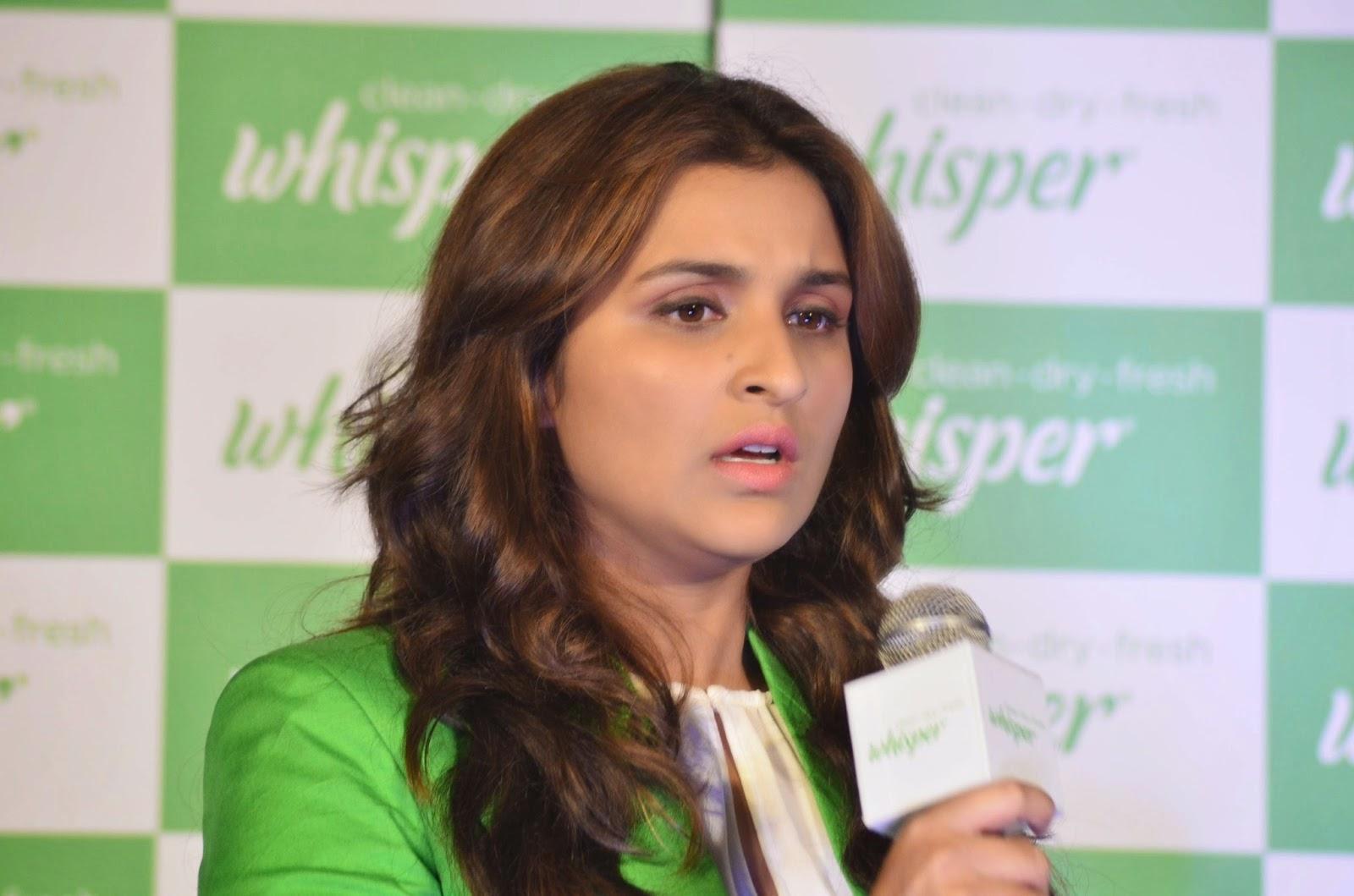 Actress Parineeti Chopra unveils the all new Whisper campaign