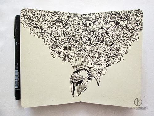 12-Warrior-Filippino-Artist-and-Illustrator-Kerby-Rosanes-Pen-Doodles-www-designstack-co