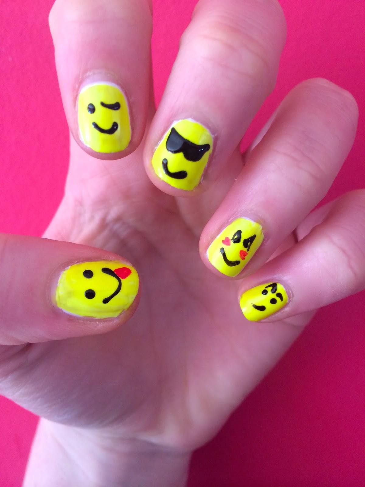The Stylish Baker Easy Emoticon Nail Art