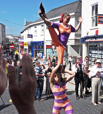 Acrobats at St Austell Feast Week