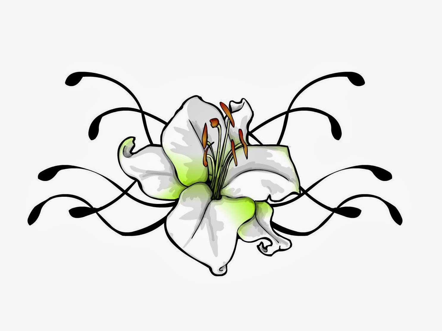 Lily flowers tattoo drawing wallpapers lily flowers tattoo drawing izmirmasajfo Choice Image