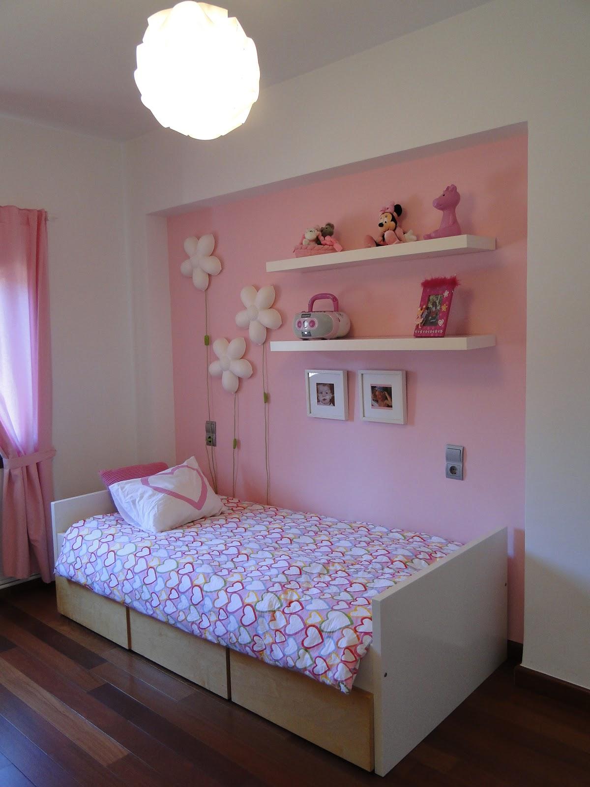 Planos low cost habitaci n infantil en rosa for Habitacion lila y blanca