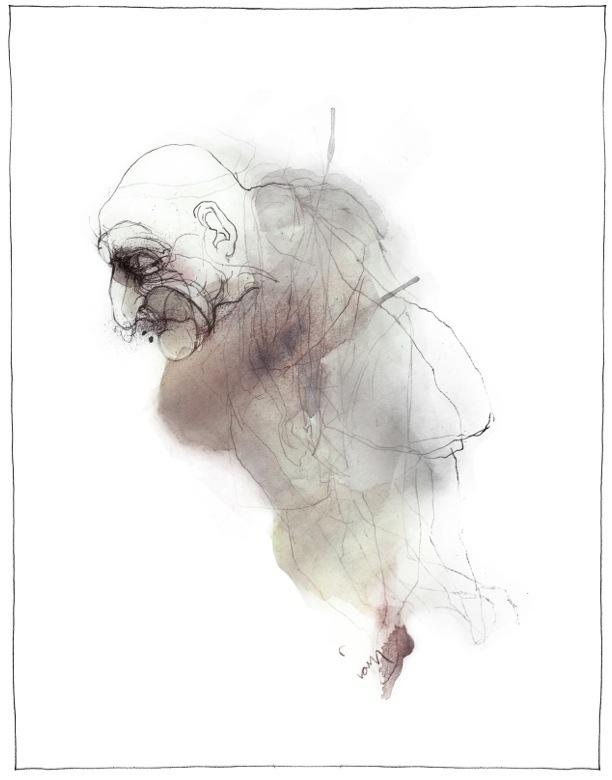 illustration med vandfarver trykt som kunstprint
