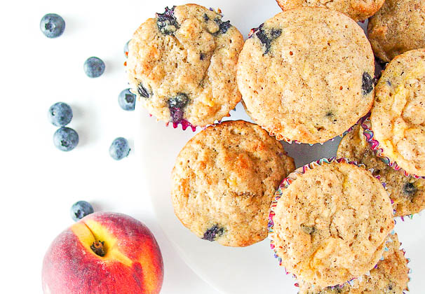 blueberry peach muffins