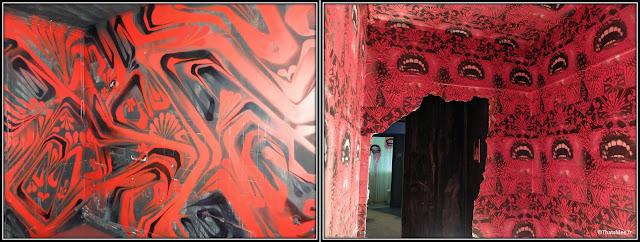 Tour Paris 13 Street Art rouge collage bouches dents