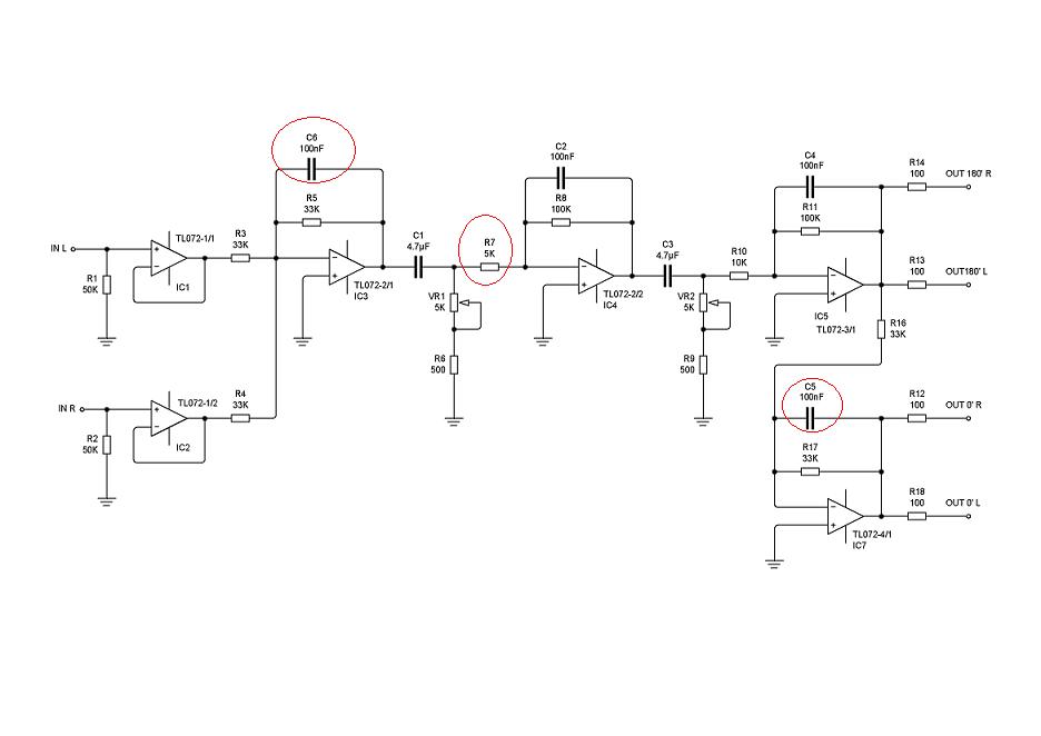 subwoofer controller circuit