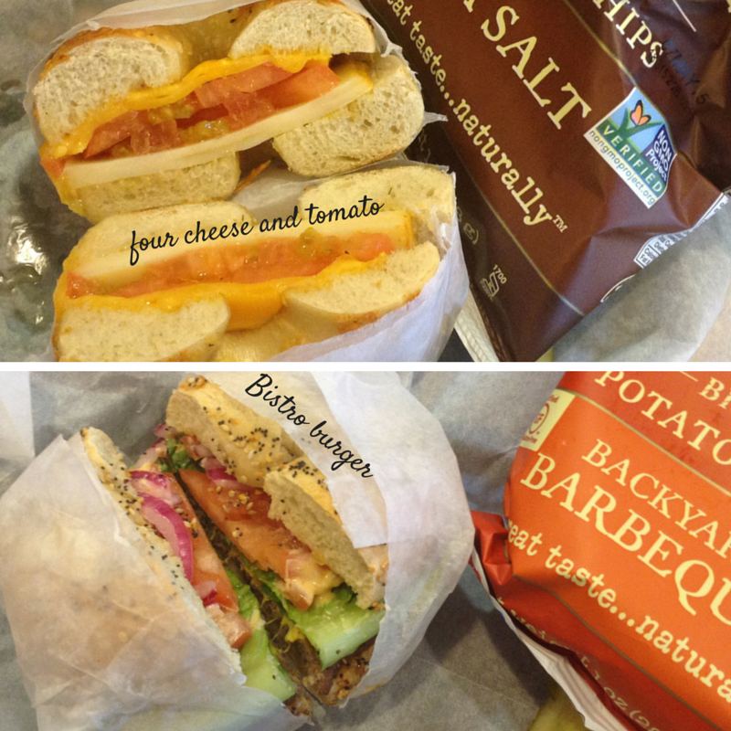 Two items from the new Brueggers menu