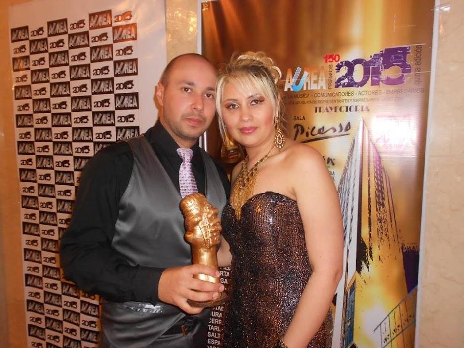 Recebendo o Prêmio AUREA 2015