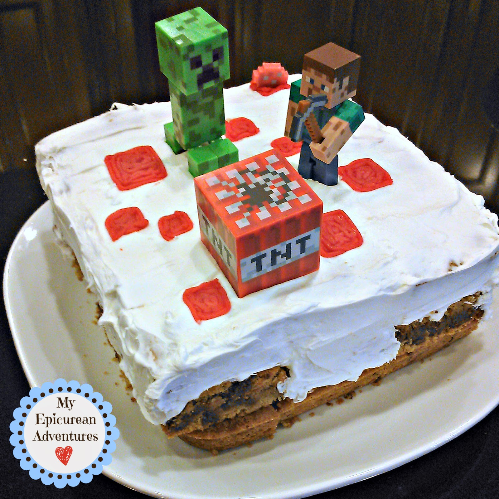 Homemade Minecraft Cookie Cake - Made healthier, cheaper and nut-free!
