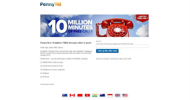 Claim Your Free Call Minutes out of 10 Million Minutes of Free International Calls