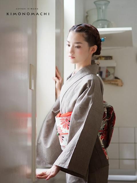 Kimonomachi Cotton Kimono/ Obi Set