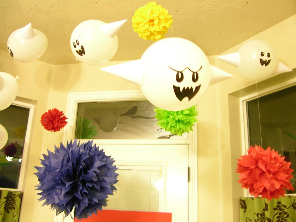 White Ghost Balloons up Some White Balloons
