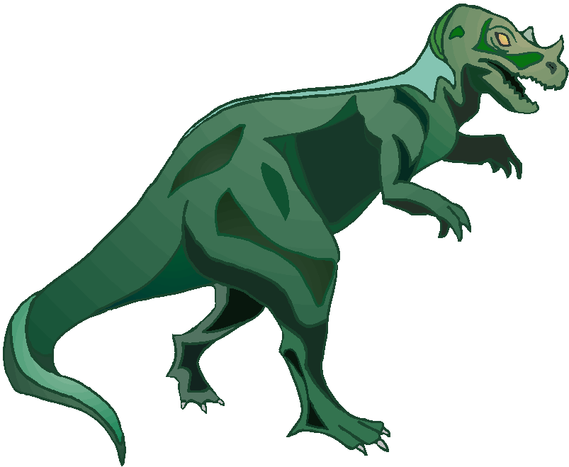 Green T-Rex Free Animal Clipart