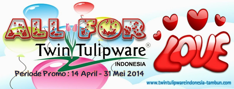All 4 Love Twin Tulipware 2014, Member Tulipware, Dealer, Agen