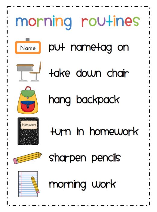 Classroom Routine Ideas ~ Mrs ricca s kindergarten morning routines