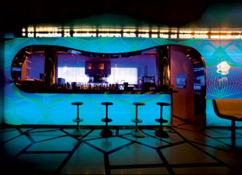 Bar design hospitals design majik cafes interiors design retail design cafes design cafes - Moderne loungebar ...
