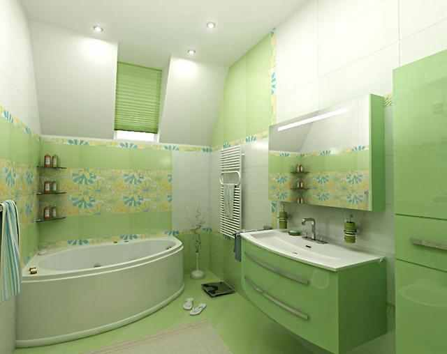 Luxury bathroom tile patterns and design colors of 2015 for Lime green bathroom ideas pictures