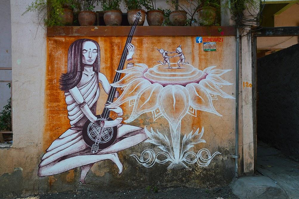 Pune Street Art Project Mural Kasba Peth Mirabai Vitae VIzai