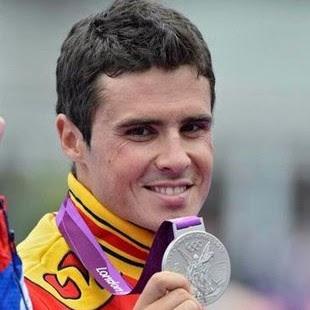 Javier Gómez Noya medalla de plata en Triatlon masculino España Juegos Olímpicos de Londres 2012