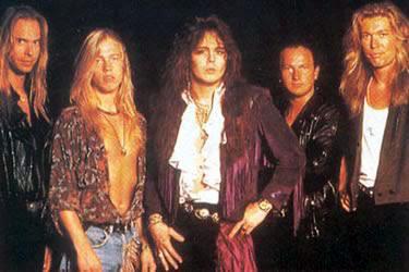 Fotografía de Yngwie Malmsteen y su grupo en 1992