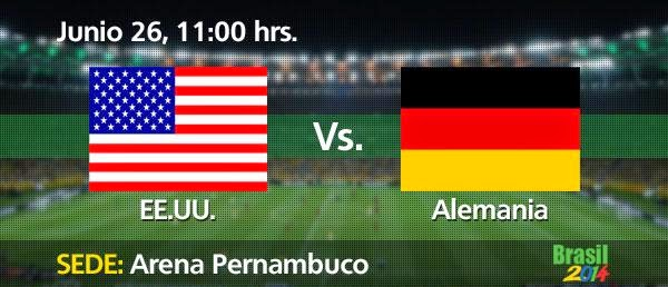 Partido Estados Unidos vs Alemania