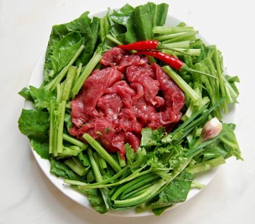 Canh cải bó xôi thịt bò
