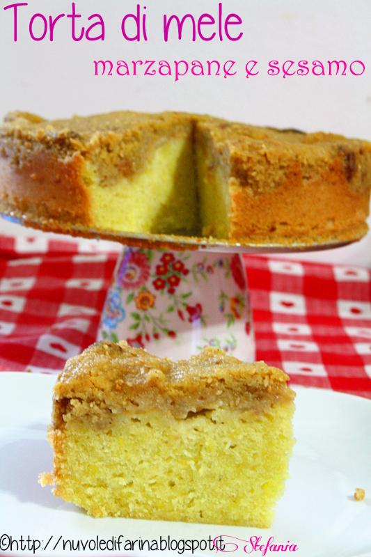 torta di mele marzapane e sesamo