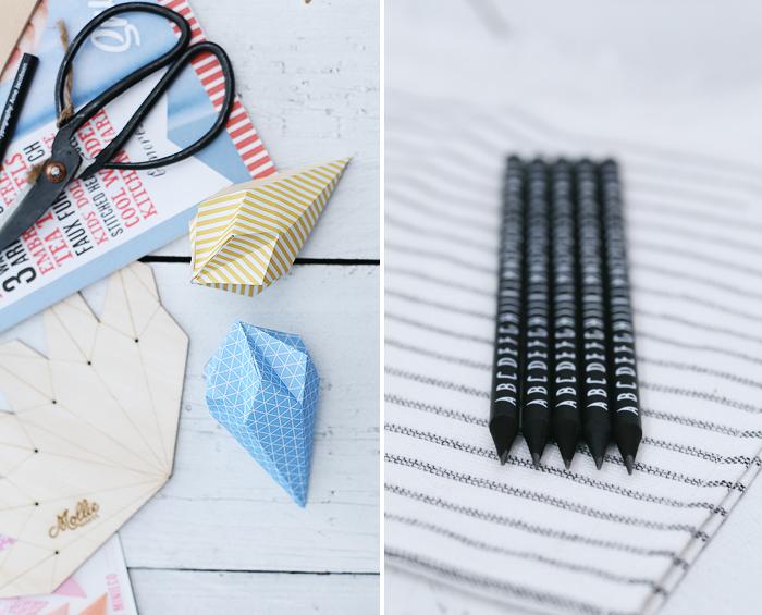 Paper Gems Papier Diamant Origami Typografie Arne Jacobsen