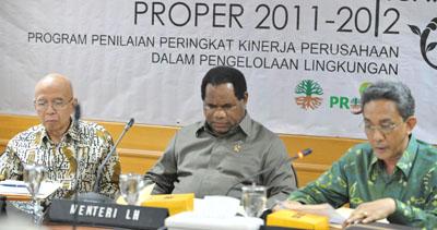 KLH Rilis Penilaian Kinerja Lingkungan Perusahaan 2012
