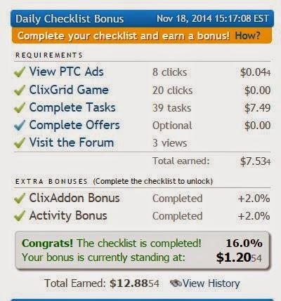online earning clixsense