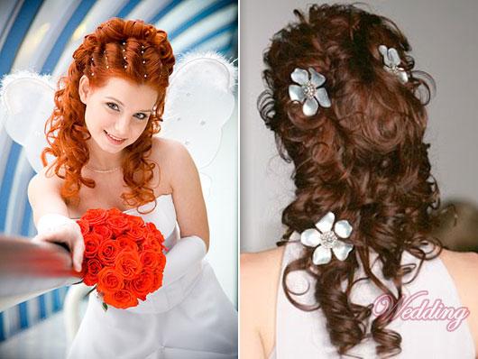 Праздничная прическа на длинные волосы с кудрями