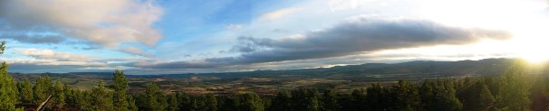 View from Mortlich, Deeside