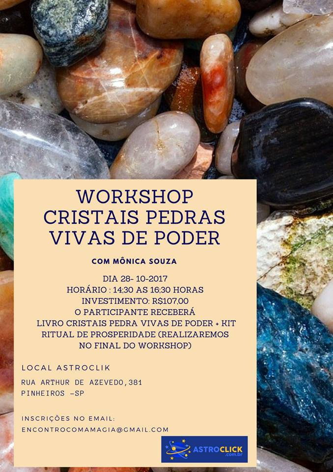 WORKSHOP CRISTAIS PEDRAS VIVAS DE PODER