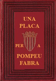 Una placa per a Pompeu Fabra
