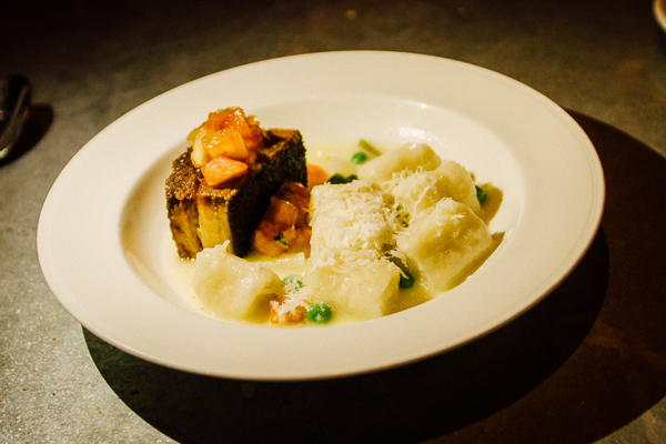pork belly and gnocchi at  Alleia in Chattanooga, Tennessee