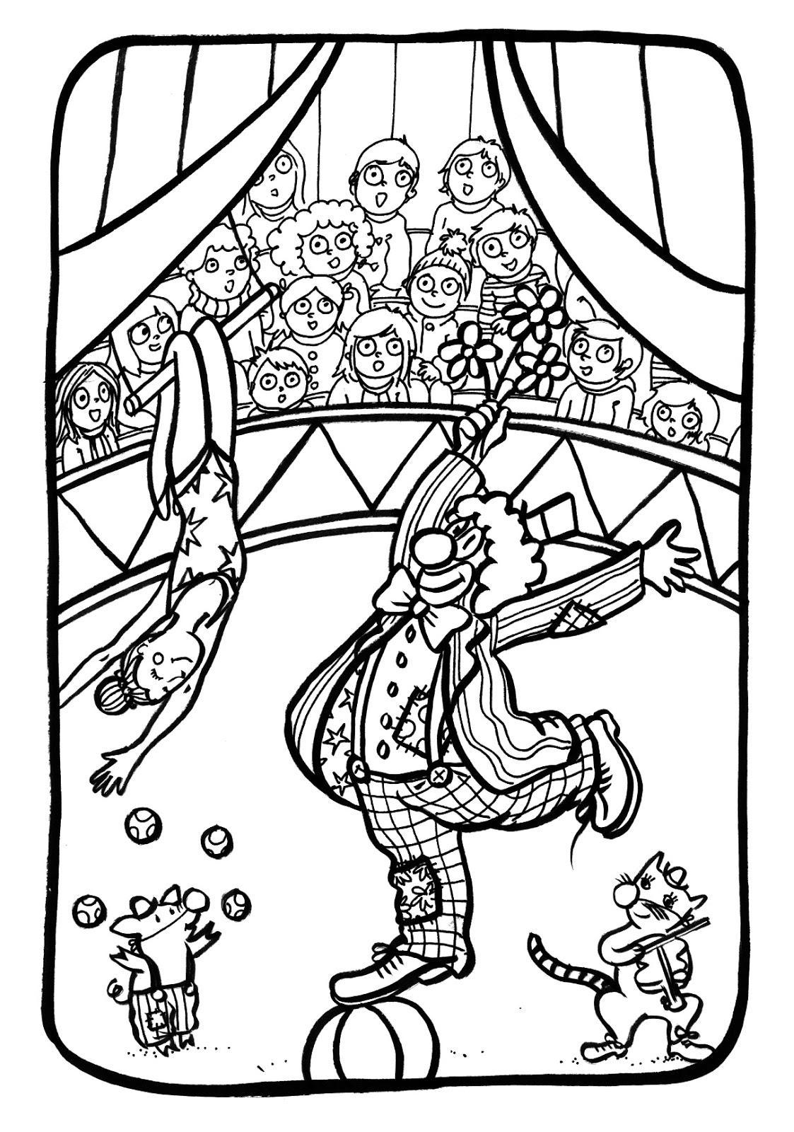 Marion de castillon coloriage du mercredi au cirque - Coloriages cirque ...