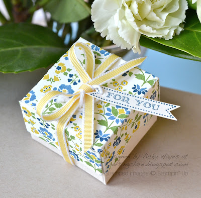 finished Stampin Up ring box