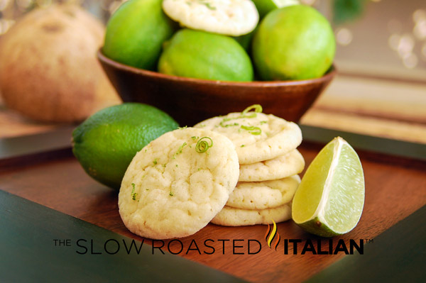 Lime Coconut Sugar Cookies . A tropical twist on the the traditional ...