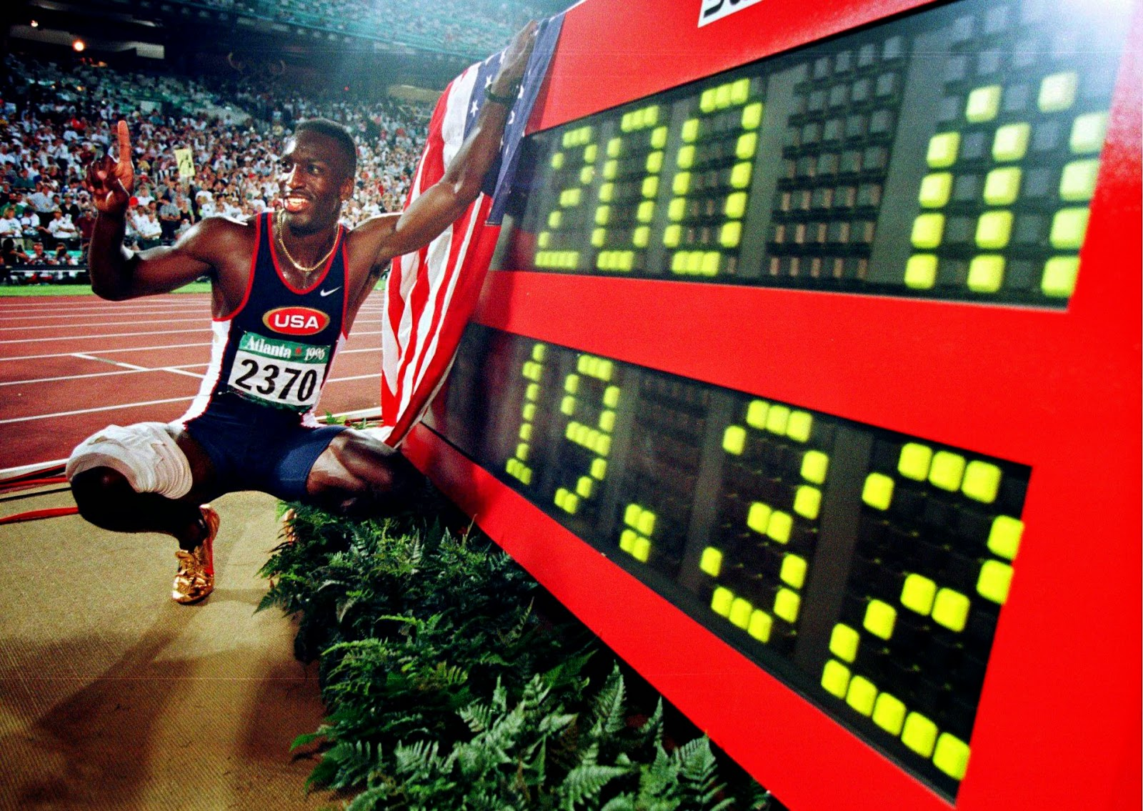 Michael Johnson. Record olímpico en 200 metros lisos (Atlanta 96)