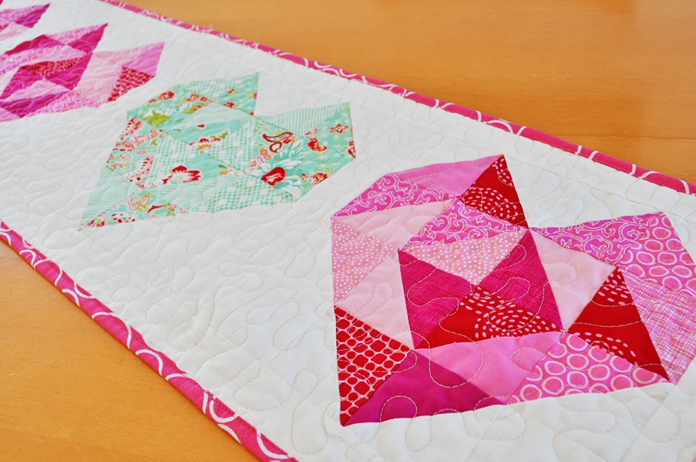 Inspiring Creations: Valentine's Table Runner