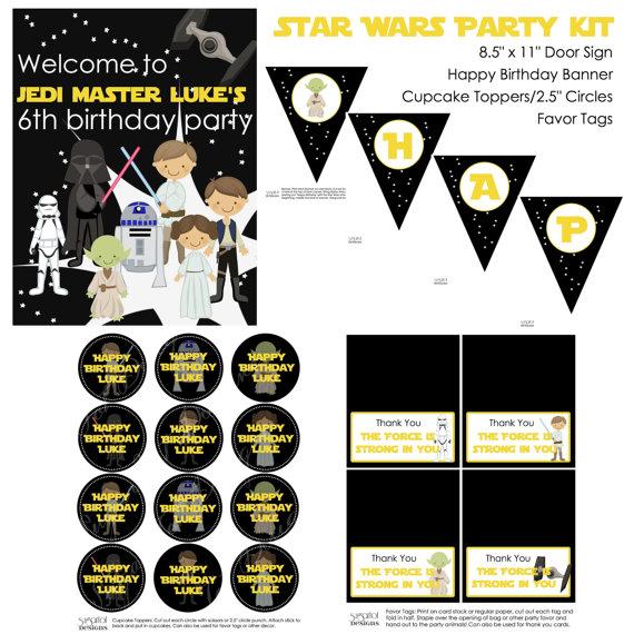photo regarding Star Wars Thank You Cards Printable Free titled sugartotdesigns: ***Star Wars Birthday Bash Invitation***