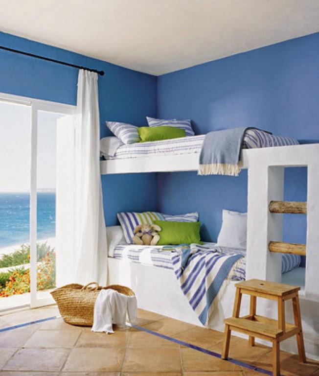 Dormitorios color azul for Cuartos pintados de azul