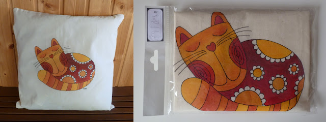 polštářek s kočičkou - spící