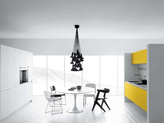 Modern House Minimalist Design 2013: Cool White and Yellow Kitchen on small study room design, small space room design, small living room design, small entry room design, small massage room design, small art room design, small kitchen bathrooms, small entertainment room design, small training room design, small living room makeover ideas, small black room design, small kitchen elegant, small dinner room design, small loft room design, living room room design, swimming pool room design, small wine room design, small basement room design, small kitchen home decor, small front room design,