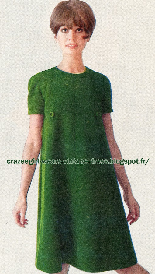 dress 1966  Christian Dior 60s 1960 green