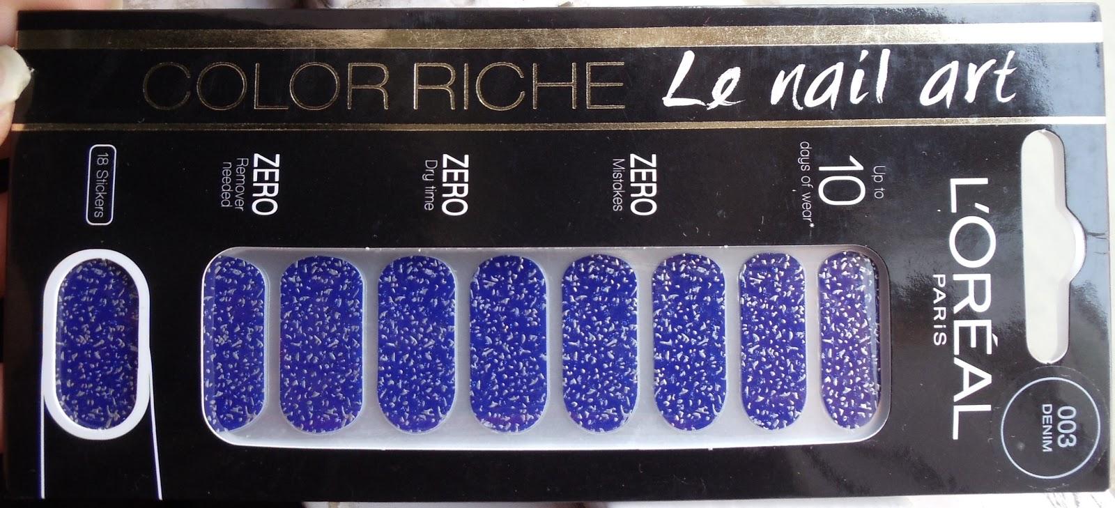 The Happi Therapy Loreal Paris Color Riche Le Nail Art Sticker