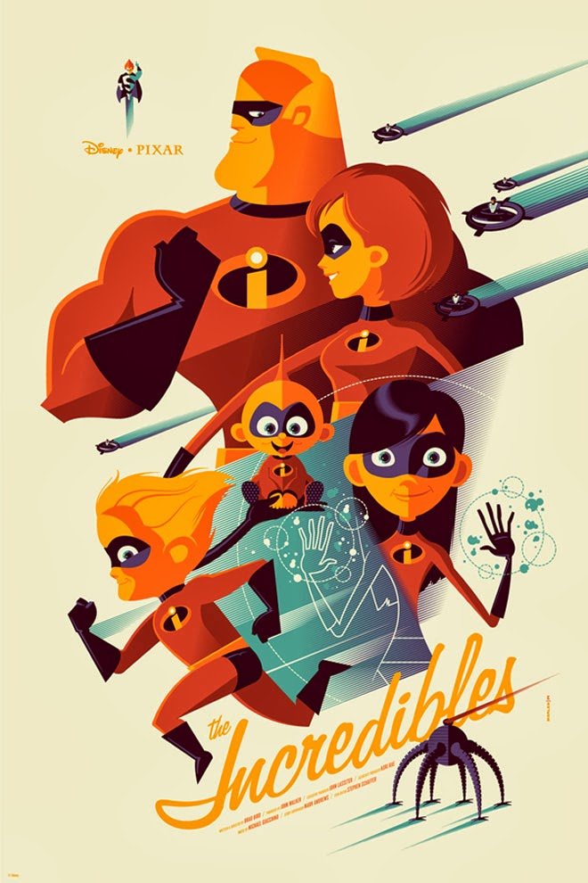 The Incredibles Tom Whalen Mondo Print Oh My Disney Pixar Post